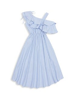 ee3ab259b2b Girl s Olympia Cold-Shoulder Dress STRIPE. QUICK VIEW. Product image