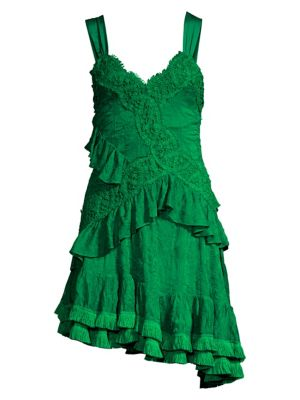 3ff3b096fab36 Lakshmi Ruffle Lace Mini Dress