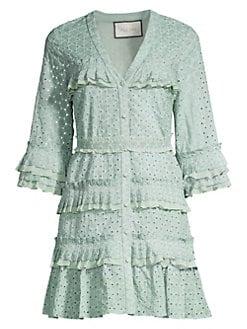 aee4829eb93fc QUICK VIEW. Alexis. Audrea Ruffle Cotton Dress