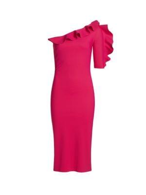 26720195956d Chiara Boni La Petite Robe Aleece One-Shoulder Ruffle