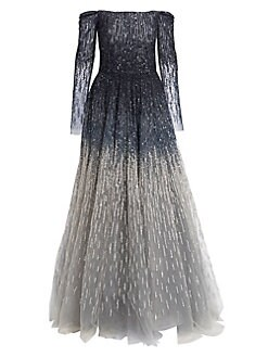 QUICK VIEW. Pamella Roland. Off-The-Shoulder Embellished Ball Gown e549c167b