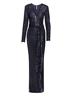 adeb8fe689dd QUICK VIEW. Naeem Khan. Sequin Long-sleeve ...