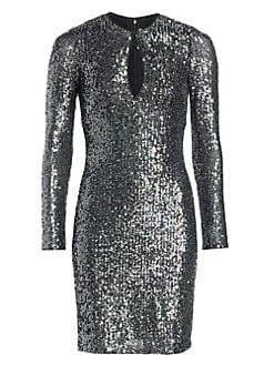 1884e82f0d58 Long-Sleeve Sequin Dress GREY. QUICK VIEW. Product image. QUICK VIEW. Naeem  Khan