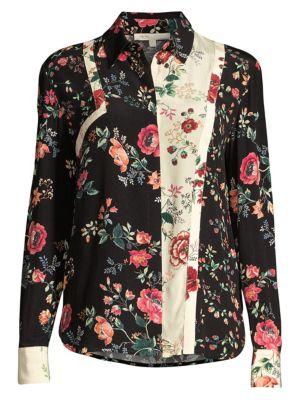 Maje Tops Rose Print Blouse