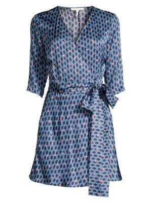 Maje Print Wrap Dress