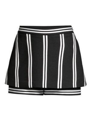 Maje Shorts Striped Tiered Shorts