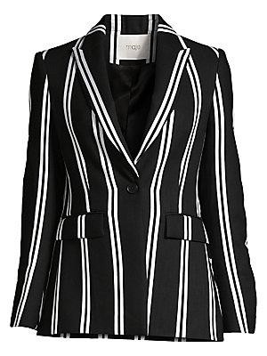Striped Blazer by Maje