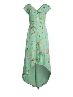 Parker Dresses Raven Floral Ruffle Front Dress