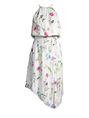 Parker Dresses Herley Smocked Waist High-Low Dress