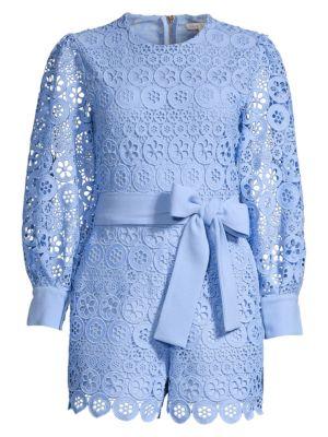 Maje Suits Guipure Lace Playsuit