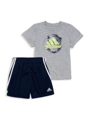 adidas 2 piece shorts set
