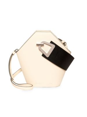 Danse Lente Bags Johnny Geometric Leather Bucket Bag