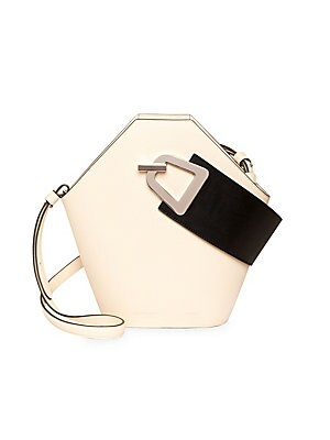 Johnny Geometric Leather Bucket Bag by Danse Lente