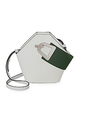 76c2c1bf2a224 Danse Lente - Johnny Geometric Leather Bucket Bag - saks.com
