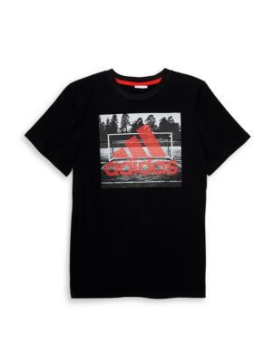 Adidas Boy S Field Court Graphic Tee