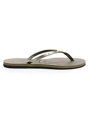 6507c110f Havaianas - Slim Metallic Flip Flops - saks.com