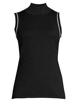5c9892defbb05 QUICK VIEW. Elie Tahari. Joan Sleeveless Wool Turtleneck Sweater