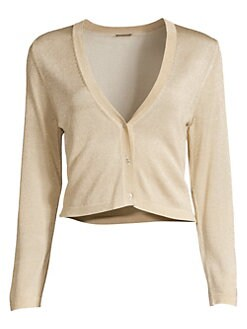 Elie Tahari. Ruby Metallic Knit Cardigan 129d2211f