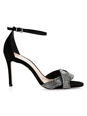 25a8fa76c317 Kate Spade New York - Gweneth Satin   Crystal Bow Sandals - saks.com