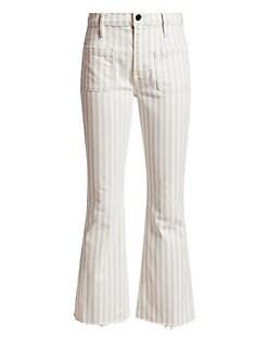 fe8a900756e Frame. Le Bardot Crop Flare-Hem Jeans