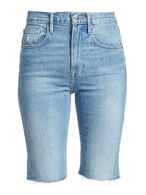 Frame Cottons Le Vintage Raw Edge Bermuda Shorts