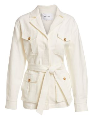 Frame Jackets Linen-Blend Cargo Jacket