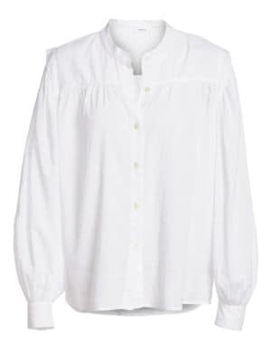 Frame Tops Voluminous Button-Up Blouse