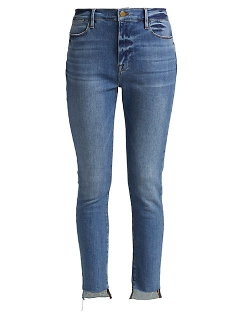 Le High Skinny Raw Hem Jeans