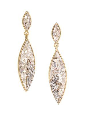 Shana Gulati Tatiana Champagne Diamond 18k Yellow Goldplated Drop Earrings