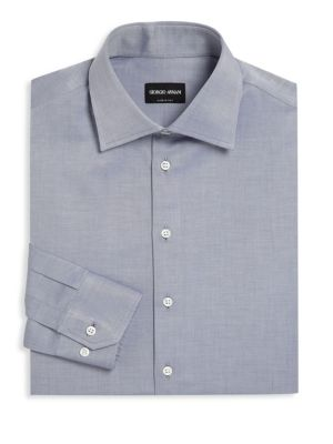 Giorgio Armani Button Front Cotton Dress Shirt