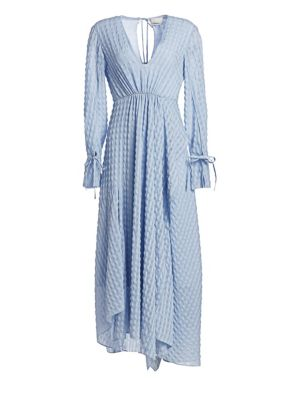 Image of 3.1 Phillip Lim Long-Sleeve Textured Flare Maxi Dress