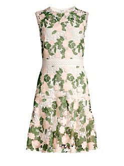 b8449f7426c Roseia Floral Lace Sleeveless Dress CLASSIC PETAL LACE. QUICK VIEW. Product  image. QUICK VIEW. Shoshanna