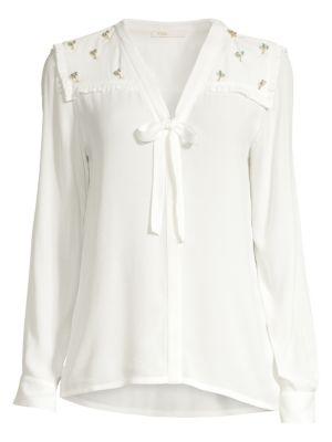 Maje T-shirts Palm Tree Pin Shirt