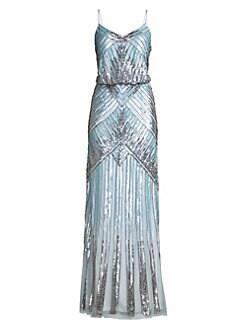 2559149da1107 QUICK VIEW. Aidan Mattox. Embellished Draped Gown