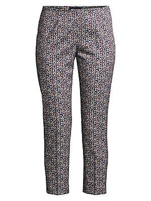 32ae13120882 Equipment - Bergen Grid Silk Crop Ankle Pants - saks.com