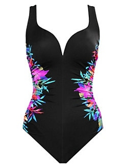 bf85faa445 QUICK VIEW. Miraclesuit Swim. Genesis Temptress Floral Sweetheart One-Piece  Swimsuit