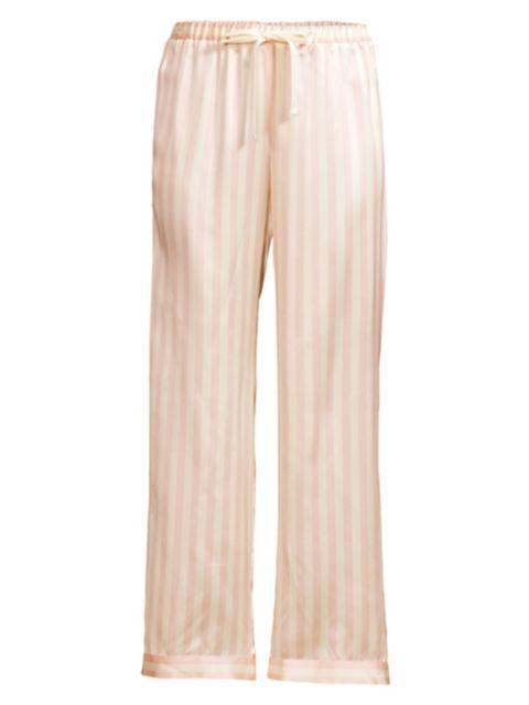 Morgan Lane Silk Striped Pajama Pants | SaksFifthAvenue