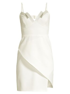 Bcbgmaxazria Linings Sequin Detail Crepe Tank Dress
