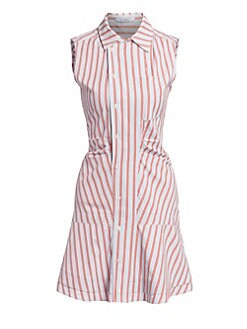 129495de5fc278 QUICK VIEW. Derek Lam 10 Crosby. Ruched Sleeveless Poplin Mini Dress