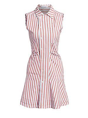 8685750725a5 Derek Lam 10 Crosby - Ruched Sleeveless Poplin Mini Dress