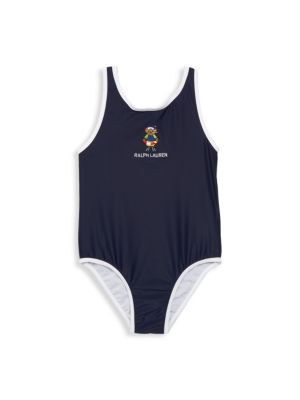Ralph Lauren Baby Girl S Logo Bear One Piece Swimsuit