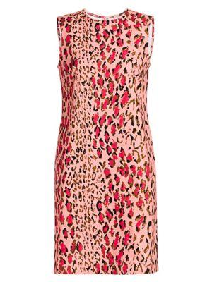 Carolina Herrera Dresses Sleeveless Leopard Print Mini Shift Dress