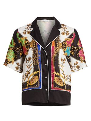 Sandro T-shirts Maxence Print Pajama-Style Shirt