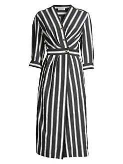 5eb19a0c360 Sandro. Carl Striped Midi Wrap Dress