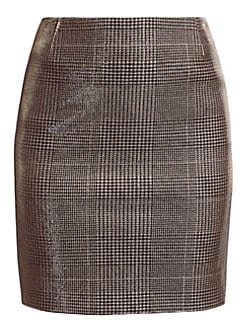 bfc2a8efbe Akris punto. Metallic Lurex Glen Check Mini Skirt