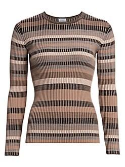 23761fb5b9 Akris punto. Multi Striped Ribbed Wool Sweater