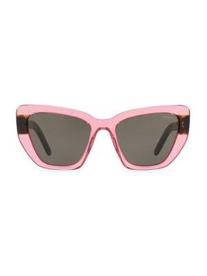 40f9969fafdd8 Prada - 57MM Hexagon Tortoiseshell Sunglasses - saks.com