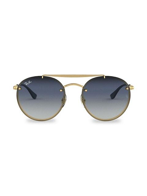 RB3614 54MM Blaze Round Aviator Sunglasses