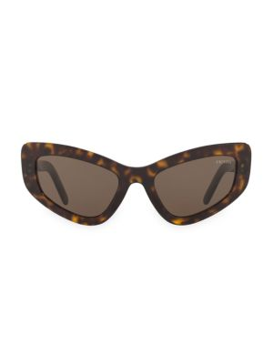 3bf89ff2b3da Prada - Catwalk 55MM Extreme Cat Eye Sunglasses - saks.com