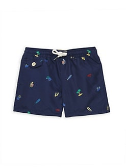 534be1486 Ralph Lauren. Little Boy's & Boy's Printed Traveler Swim Shorts